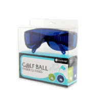 Golfballfinder Brille Box Frontansicht räumlich
