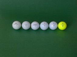 golfball vergleich sichtbarkeit farben bei normale sicht