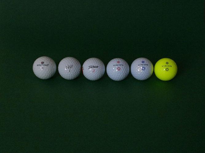 golfball vergleich sichtbarkeit farben diffuse sicht