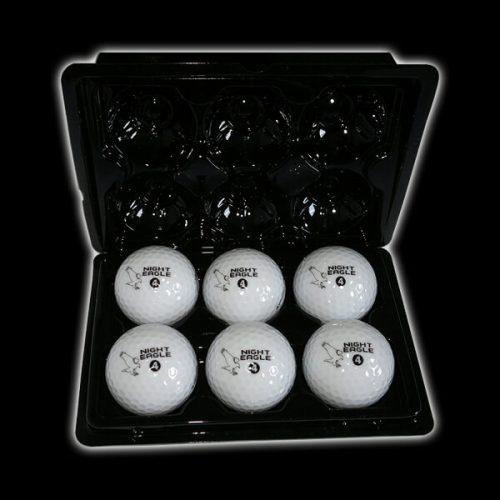 Night Eagle LightUp LED Golfball 6er Box offen