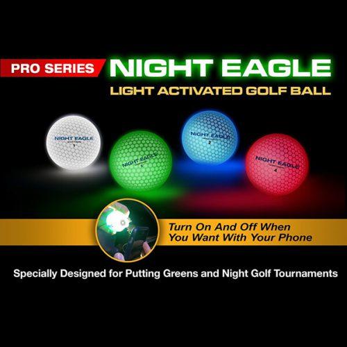 Night Eagle LightUp LED Golfball Licht-aktiviertes Ein-Ausschalten