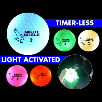 night eagle lightup led golfball alle 5 farben timer-less