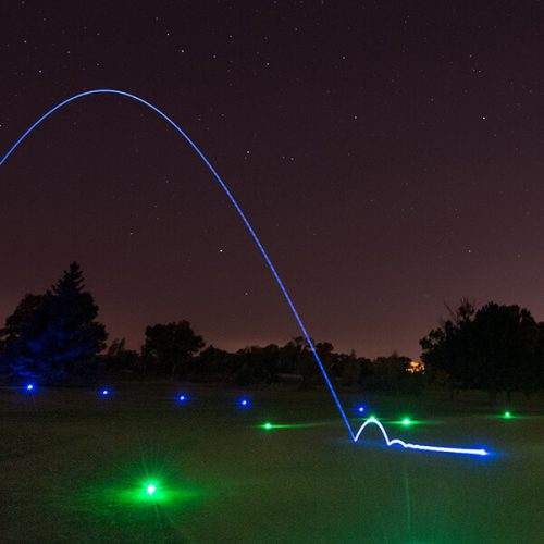 Night Eagle LightUp LED Golfball in Aktion