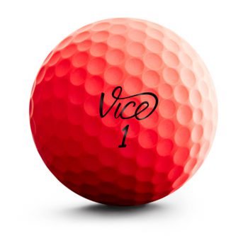 VICE Pro Soft Red Neon Front Golfball