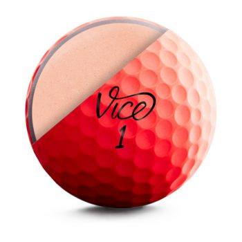 VICE Pro Soft Red Neon Front Golfball Cut