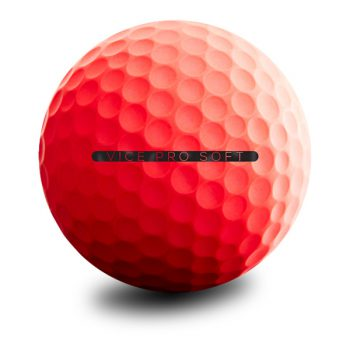 VICE Pro Soft Red Neon Puttingline Golfball
