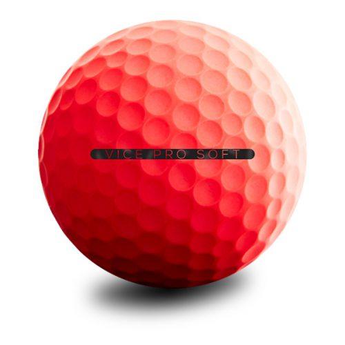 VICE Pro Soft Red Neon Puttingline Golfball