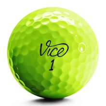Vice Pro Plus Neon Lime Golfball Front