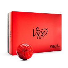 Vice Pro Plus Neon Red Golfball 12er-Box