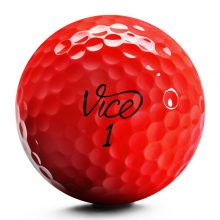 Vice Pro Plus Neon Red Golfball Front