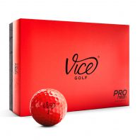 Vice Pro Red Neon Golfbälle 12er Box