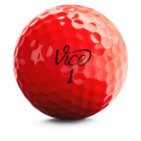 Vice Pro Red Neon Golfbälle Front