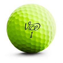 Vice Pro Soft Lime Neon Front Golfball