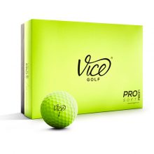 Vice Pro Soft Lime Neon Golfball 12er-Box