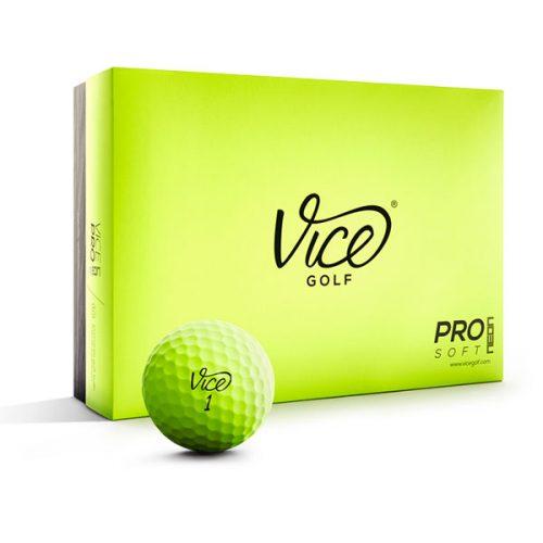 Vice Pro Soft Lime Neon Golfball 12er-Box