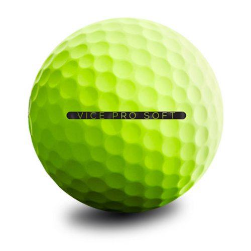 Vice Pro Soft Lime Neon Puttingline Golfball