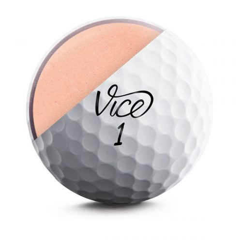 Vice Pro Soft Weiß Front Golfball Cut