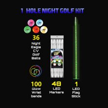 LED 1-hole-kit 36 Night Eagle Golfbälle
