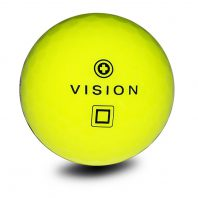 Vision Pro Tour V SuperYellow Golfball Front Golfbälle Gelb