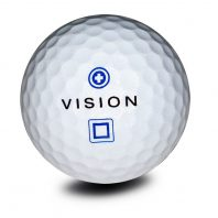 Vision Pro Tour X ArcticWhite Golfball Front