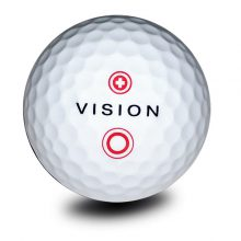 Vision Pro Tour X SnowWhite Red Golfball Front