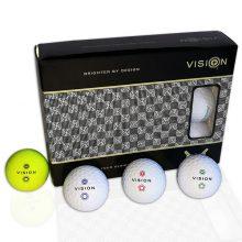 Pro Tour TestTheVision Set 12er Box Golfbälle Weiß Gelb