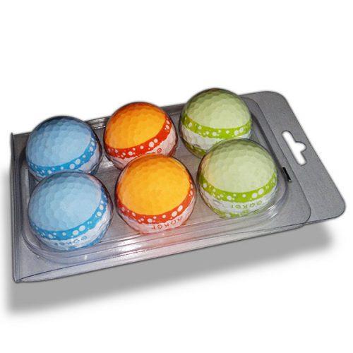 Vision Goker Macaron Golfbälle orange grün blau Blister unten