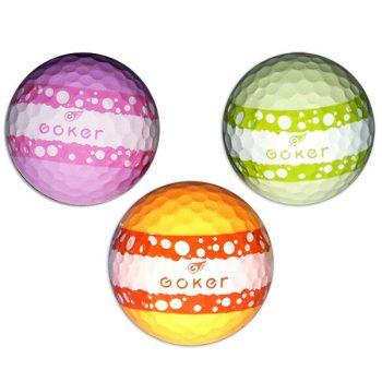 Vision Goker Macaron Golfbälle orange grün lila