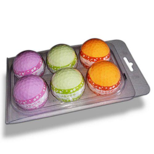 Vision Goker Macaron Golfbälle orange-grün-lila Blister unten