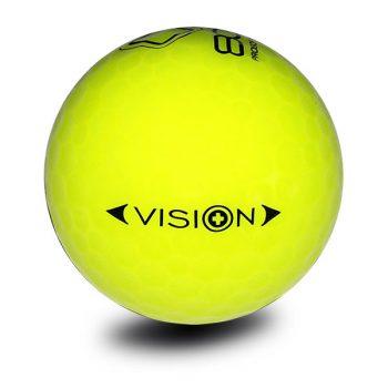 Vision_Pro Soft_808_SuperYellow_Golfball_Back_Golfbälle Gelb
