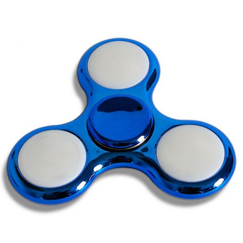 LED Fidget Spinner Metallic Blau inaktiv
