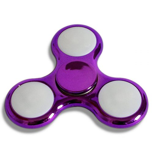 LED Fidget Spinner Metallic Lila inaktiv