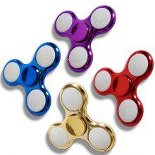 LED Fidget Spinner Metallic Rot-Blau-Gold-Lila inaktiv