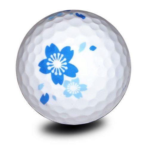 Vision Goker Blossom Golfbälle Blau Front