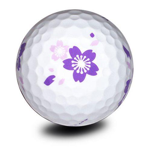 Vision Goker Blossom Golfbälle Lila Front