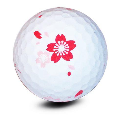 Vision Goker Blossom Golfbälle Rot Front