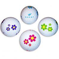 Vision Goker Daisy 4 Golfbälle lila-pink-grün-blau