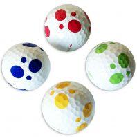 Vision Goker Dalmatian Golfbälle blau gelb grün rot