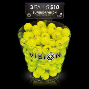 Vision Thekendisplay ProSoft 808 SuperYellow schwarz Vorderseite