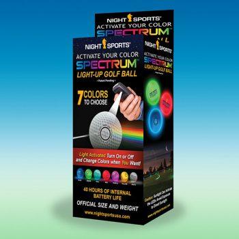 NightSports Spectrum LED Golfbälle 3erBox 7 Farben Rot,Gelb,Weiß et