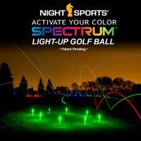 NightSports Spectrum LED Golfbälle Nachtgolf Bild