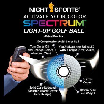 NightSports Spectrum LED Golfbälle Spezifikationen