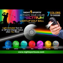 NightSports Spectrum LED Golfbälle alle 7 Farben Funktion