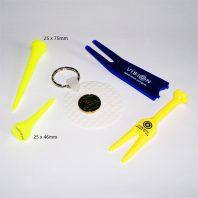 Vision 50 Golf Tees Gelb Plastick Set Pitchgabel Ballmarker Einzelansicht