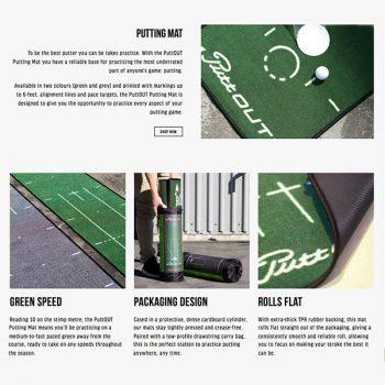 PuttOut Puttingmatte Grün Golf 50x240cm Beschreibung