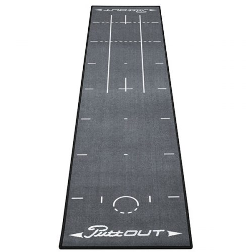 PuttOut Puttingmatte Grau Golf 50x240cm