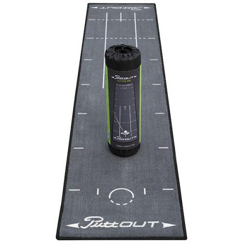 PuttOut Puttingmatte Grau Golf 50x240cm inkl Transportbeutel