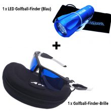 Golfball Finder Paket Brille A99 und Nite Hawk LED Golfballfinder Blau