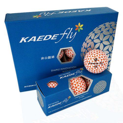 Kaede Fly Soft Distance Golfbälle Farbe Orange Weiß 12er Pack