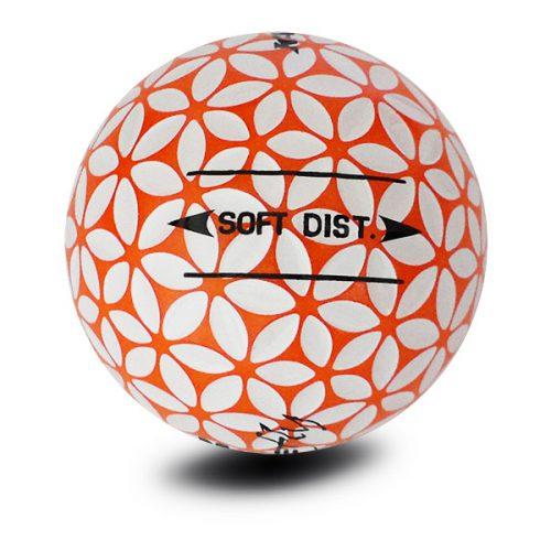 Kaede Fly Soft Distance Golfbälle Farbe Orange Weiß Puttingline